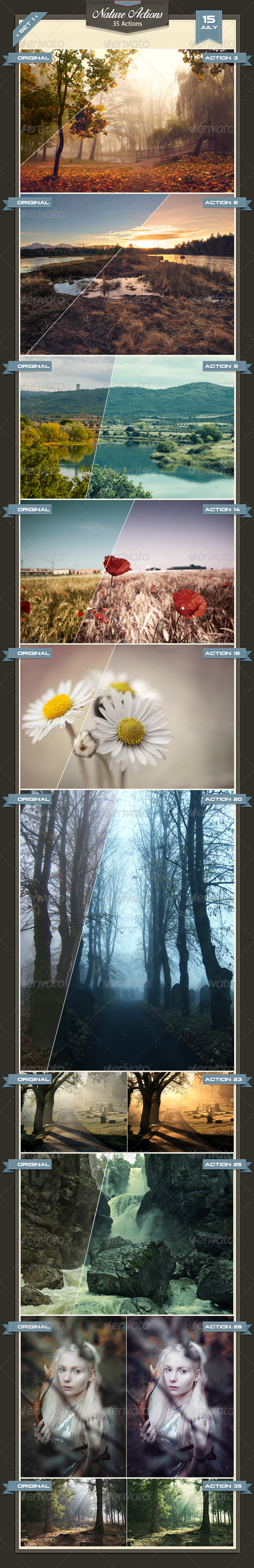 GraphicRiver Nature Photoshop Actions 8282537