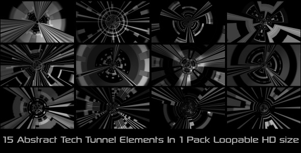 Abstract Tech Tunnel Pack 01