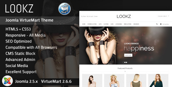 Looks - VirtueMart Parallax Template - Fashion Retail