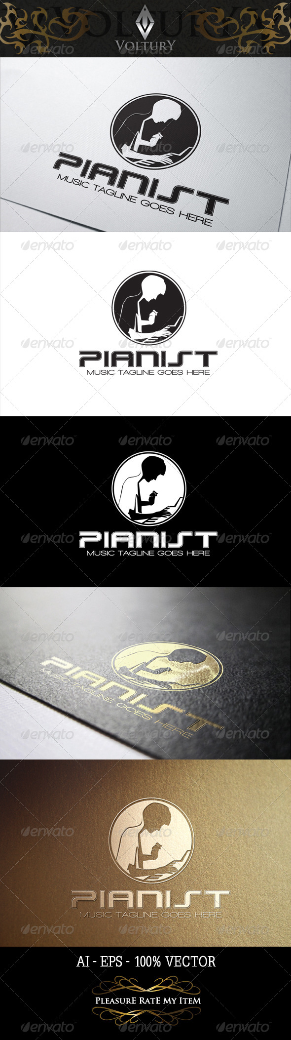 GraphicRiver Pianist Logo 8282897