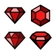 Ruby Vector Icons Set - GraphicRiver Item for Sale