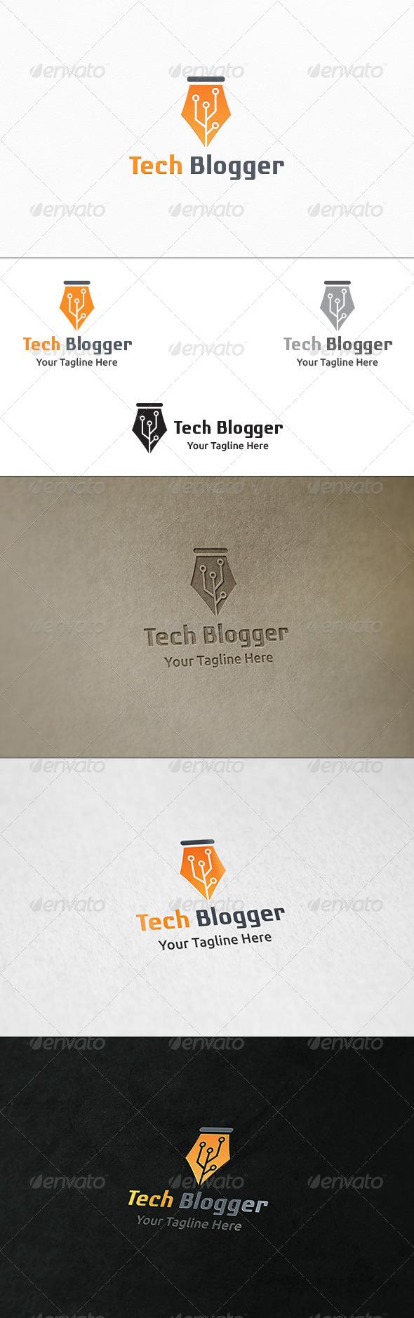 GraphicRiver Tech Blogger Logo Template 8282987