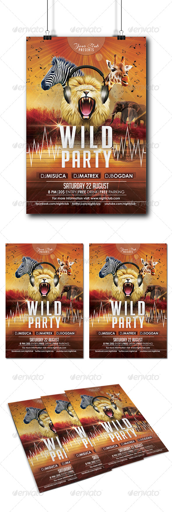 GraphicRiver Wild Party Flyer 8283063