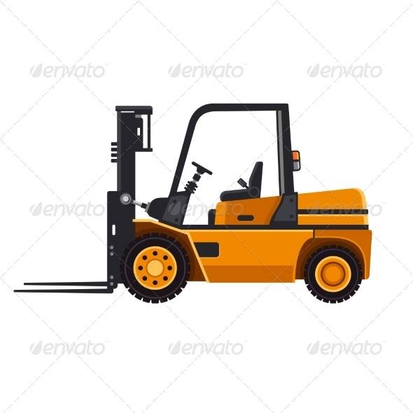 GraphicRiver Yellow Forklift Loader Truck 8283086