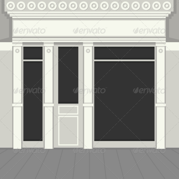 GraphicRiver Shopfront with Black Windows 8283091