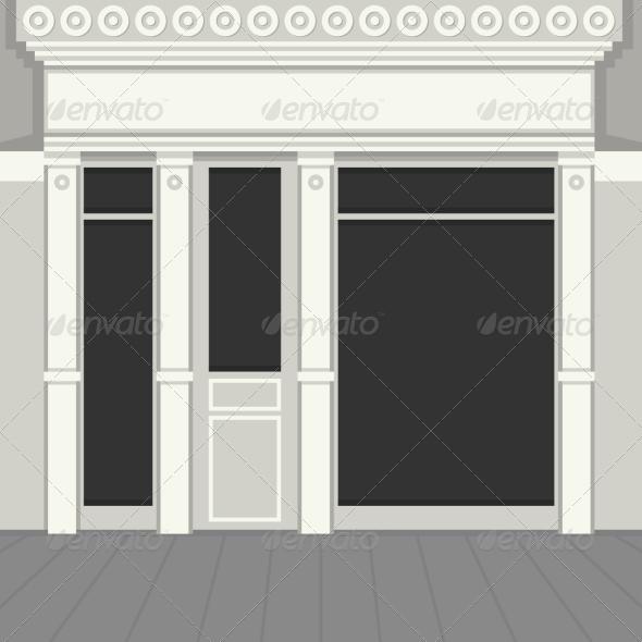 GraphicRiver Shopfront with Black Windows 8283091