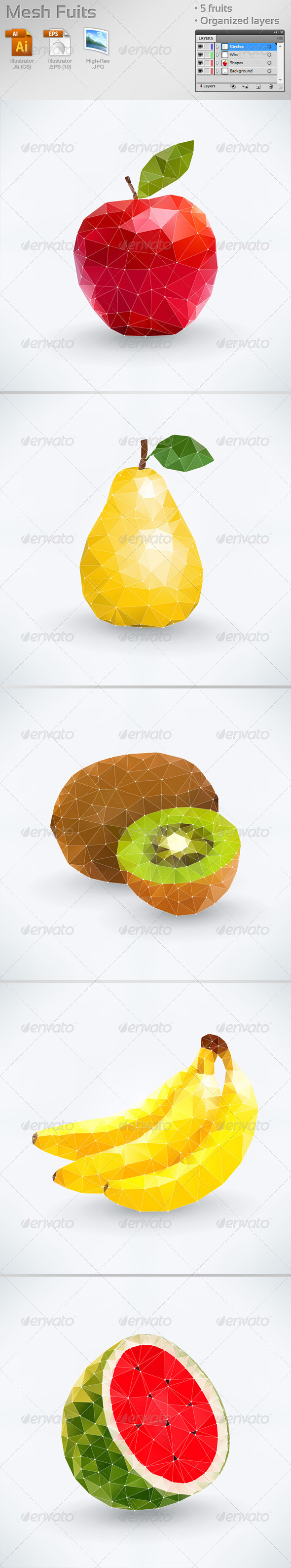 GraphicRiver Mesh Fruits 8283107