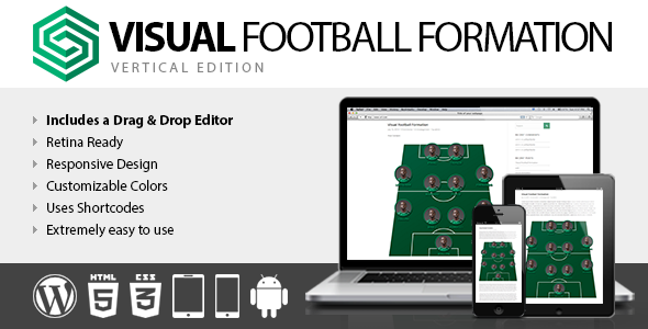 CodeCanyon Visual Football Formation Vertical Edition 8257984