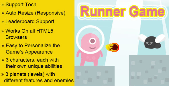 CodeCanyon Runner HTML5 Game 8283208