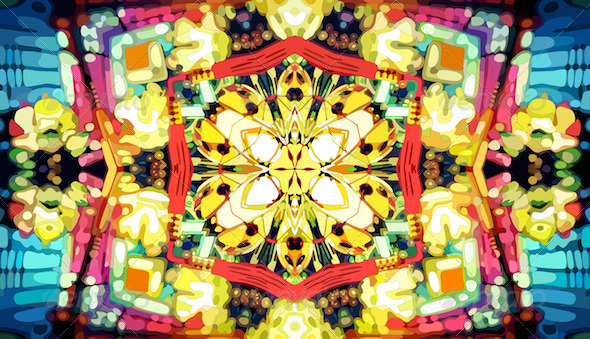 Kaleidoscope Mosaic Background