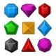 Set of Multicolored Gems for Match Games - GraphicRiver Item for Sale