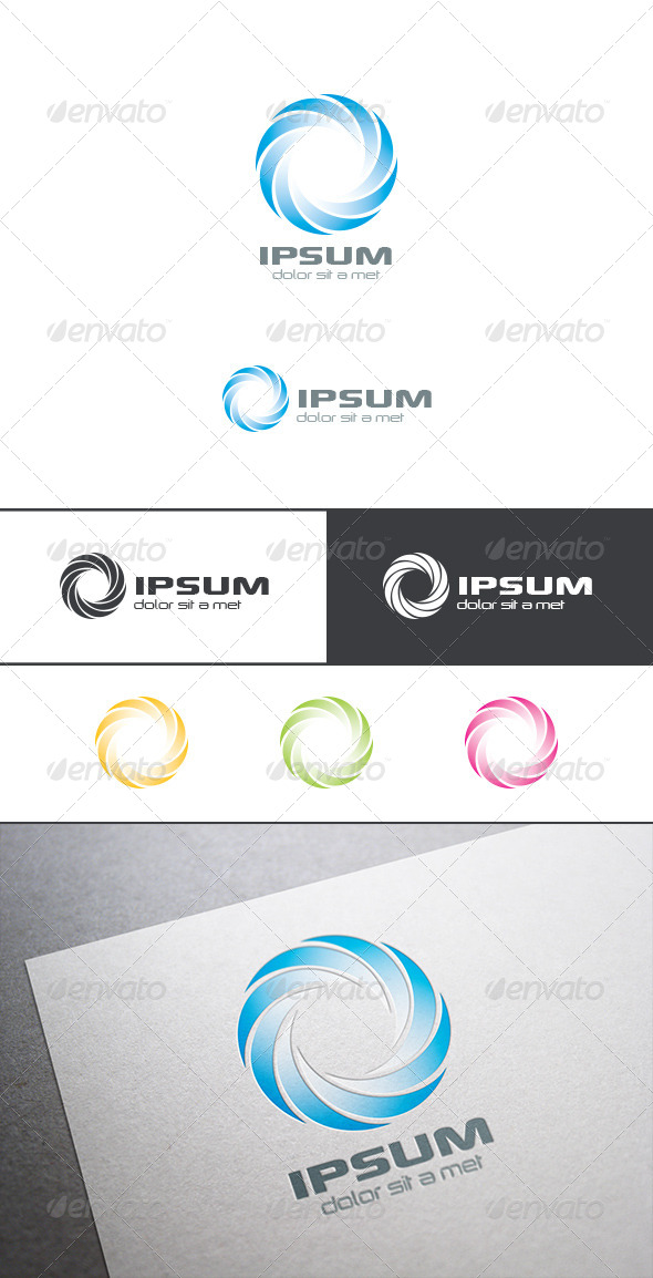 GraphicRiver Circle Infinity Loop Logo Abstract 8283372
