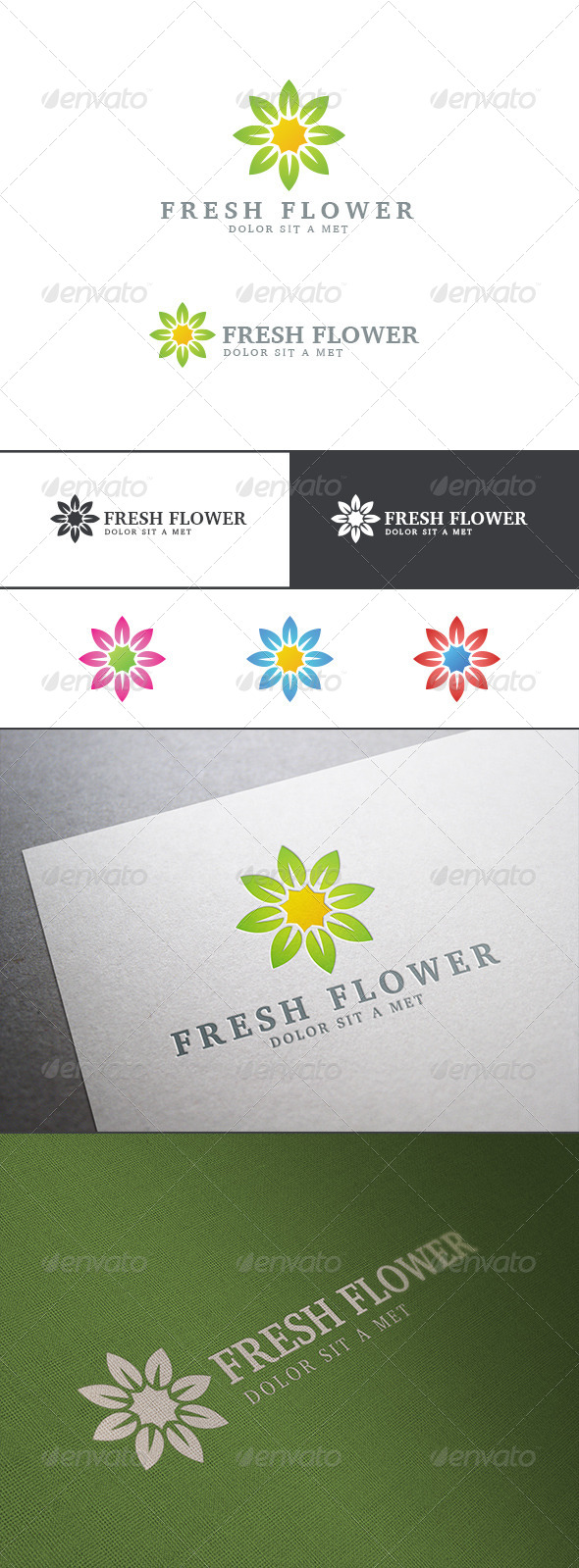 Flower Logo Abstract Ecology