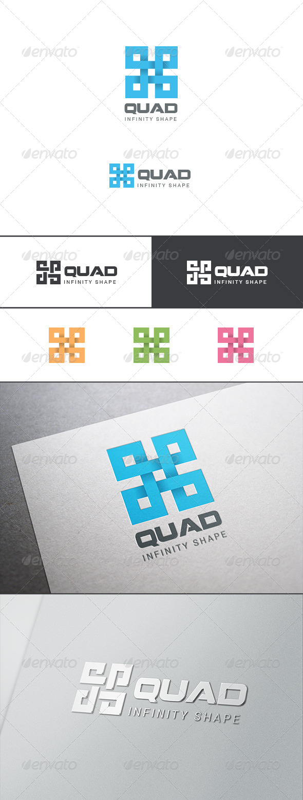 GraphicRiver Square Cross Infinity Loop Logo Abstract 8283384