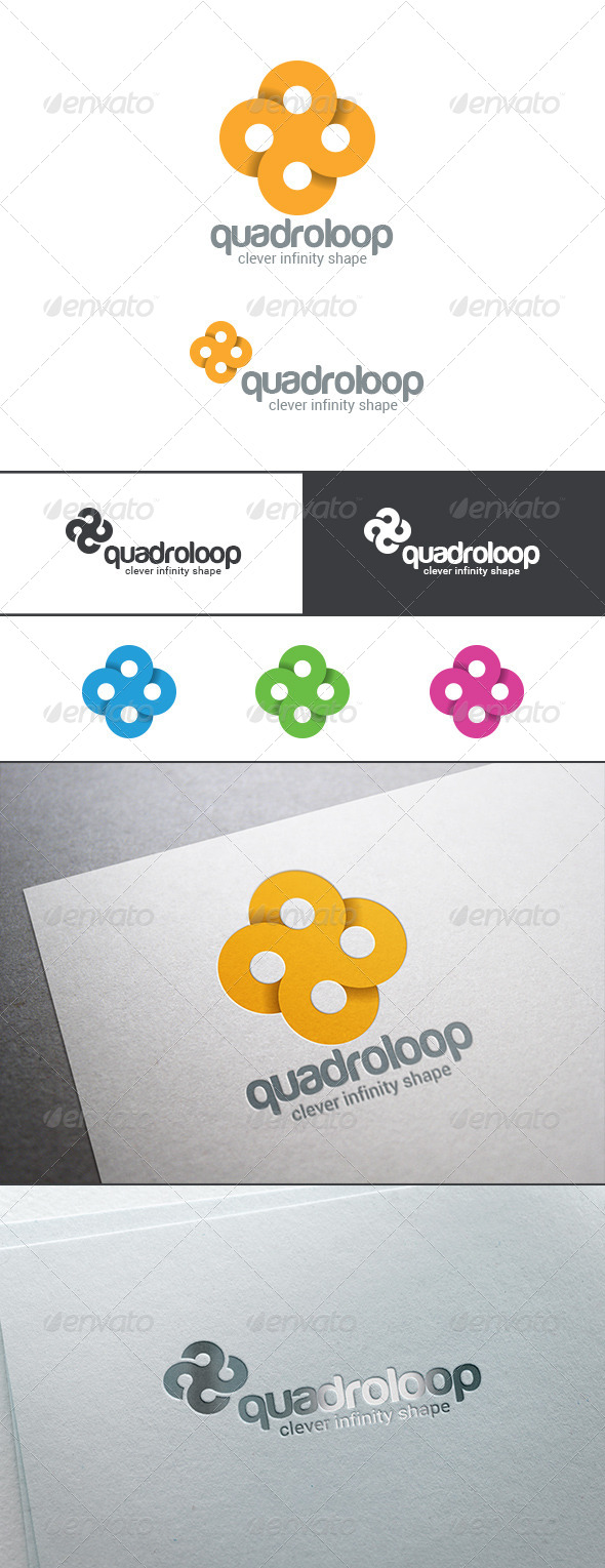 GraphicRiver Circle Cross Infinity Loop Logo Abstract 8283389