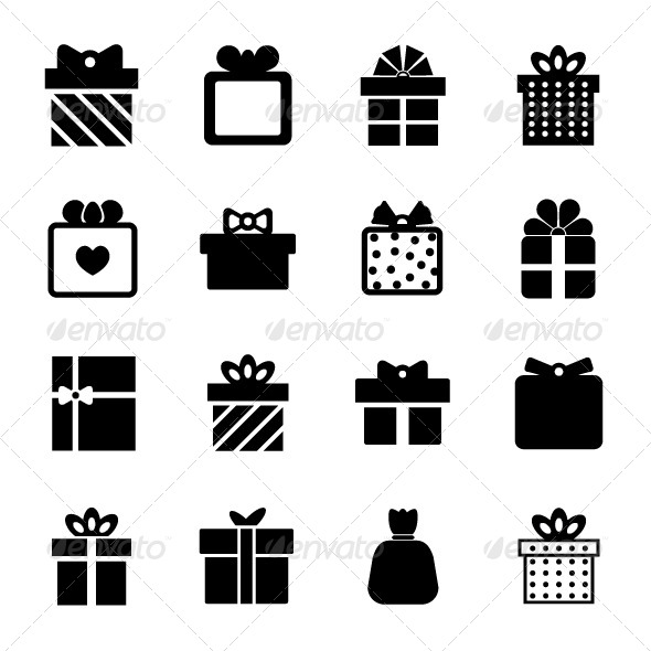 GraphicRiver Gift Box Icon 8283423