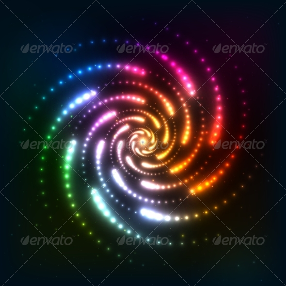 GraphicRiver Abstract Rainbow Neoncosmic Spiral Background 8283911