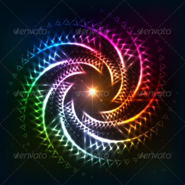 GraphicRiver Abstract Rainbow Neoncosmic Spiral Background 8283915