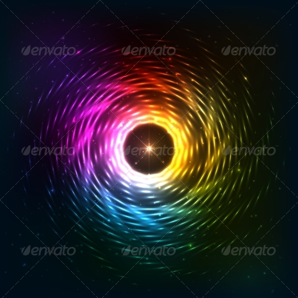GraphicRiver Abstract Rainbow Neoncosmic Spiral Background 8283918