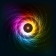 Abstract Rainbow Neoncosmic Spiral Background - GraphicRiver Item for Sale