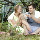 Young Couple On Picnic Drinking Wine And Talking  - VideoHive Item for Sale