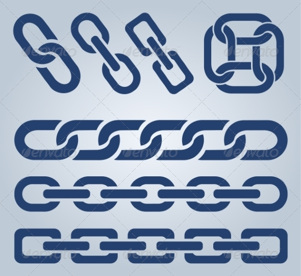 GraphicRiver Set of Chain Icons 8284093