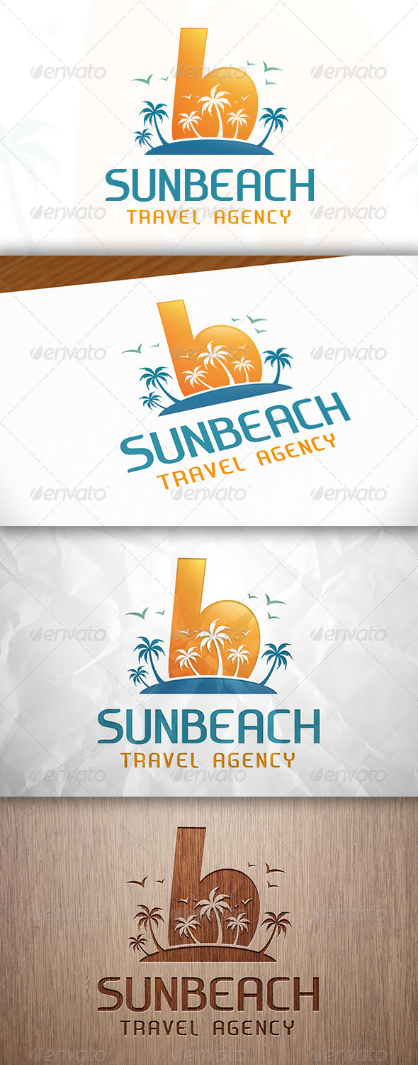 GraphicRiver Beach B Letter Logo 8284124