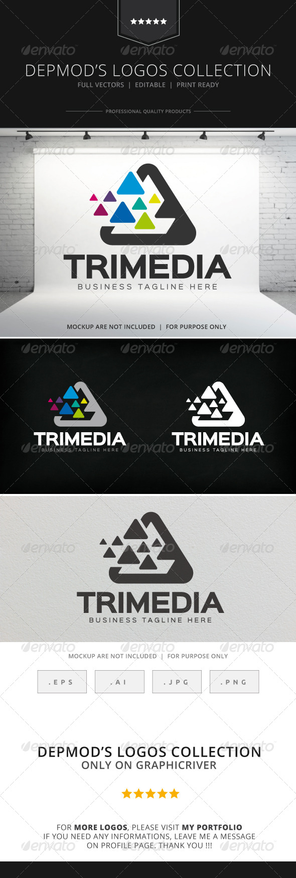 GraphicRiver Tri Media Logo 8284129