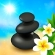 Spa Rocks with Flowers on Summer Background - GraphicRiver Item for Sale