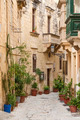 cobbled street in valetta old town malta - PhotoDune Item for Sale