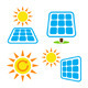 Solar Panel Eco Energy Icons Set - GraphicRiver Item for Sale