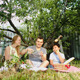 Parents With Their Son Having Picnic - VideoHive Item for Sale