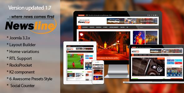 Newsline - Responsive Magazine Joomla Template - Blog / Magazine Joomla