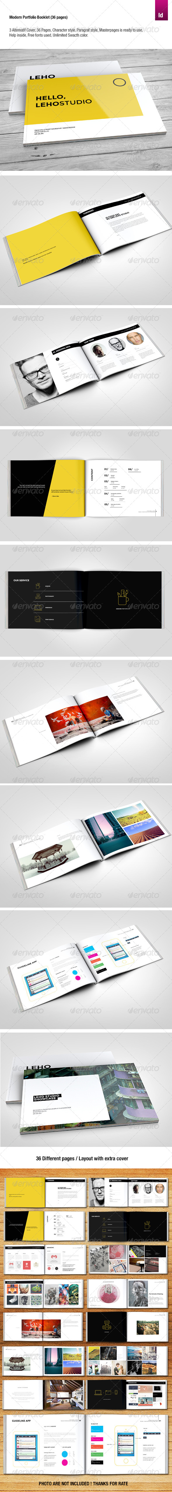 GraphicRiver Modern Portfolio Brochure 36 Pages 8284238