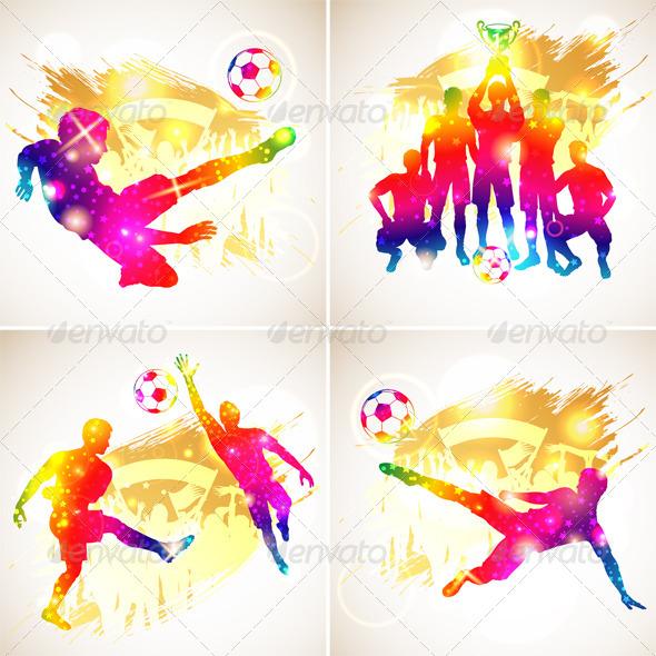 GraphicRiver Soccer Silhouette 8284242