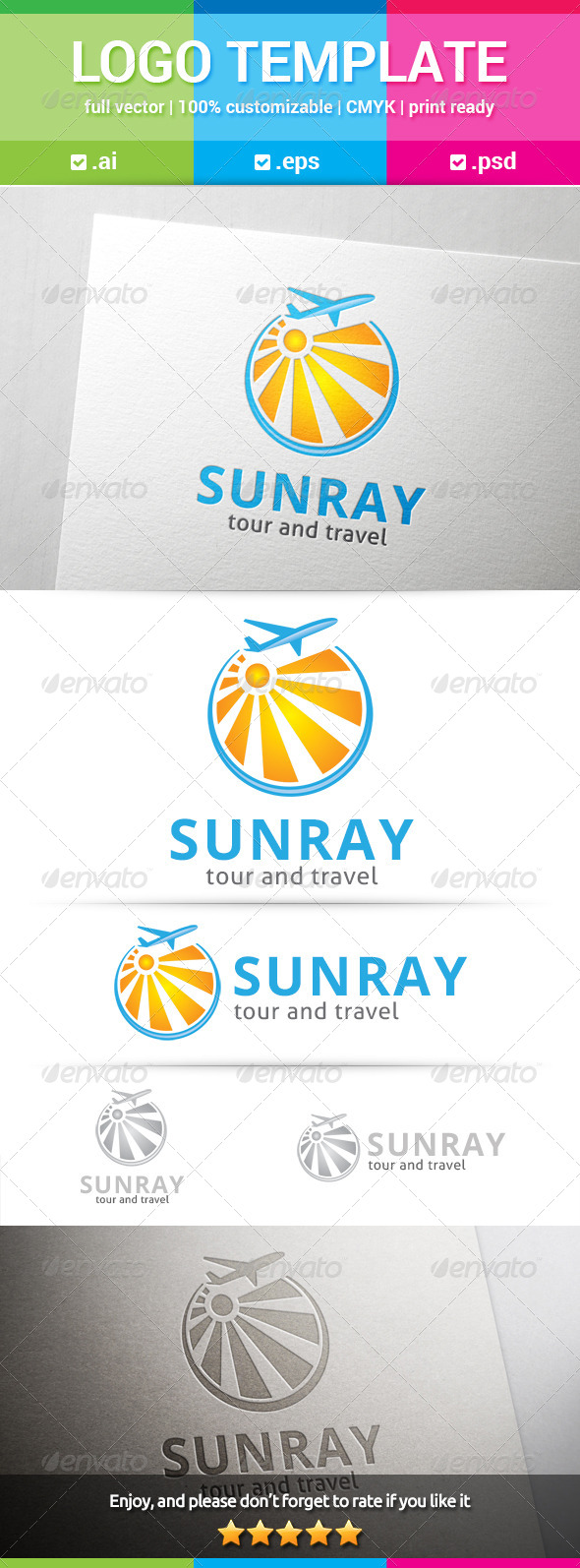 GraphicRiver Sunray Travel Logo 8284342