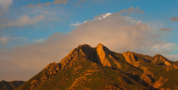 Sunset on Mount Olympus