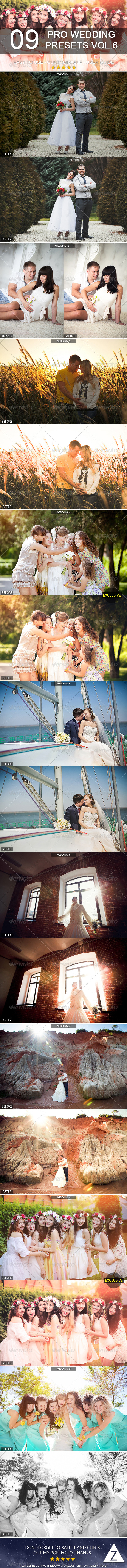 GraphicRiver 9 Pro Wedding Presets vol.6 8284354