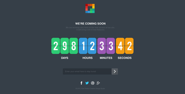 Pixp Countdown - Coming Soon Template