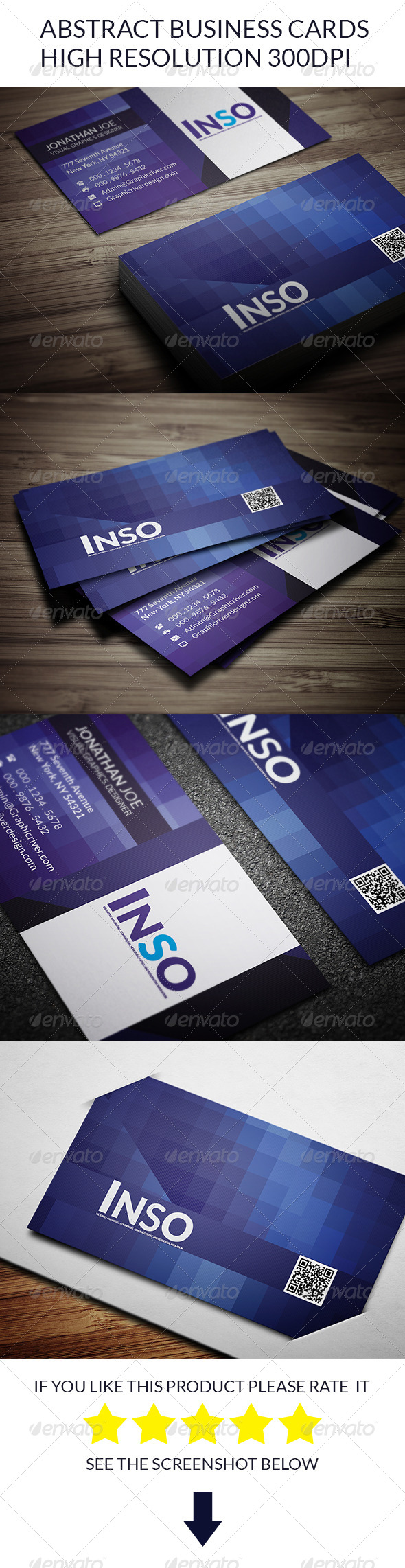 GraphicRiver Abstract Business Cards 8284368
