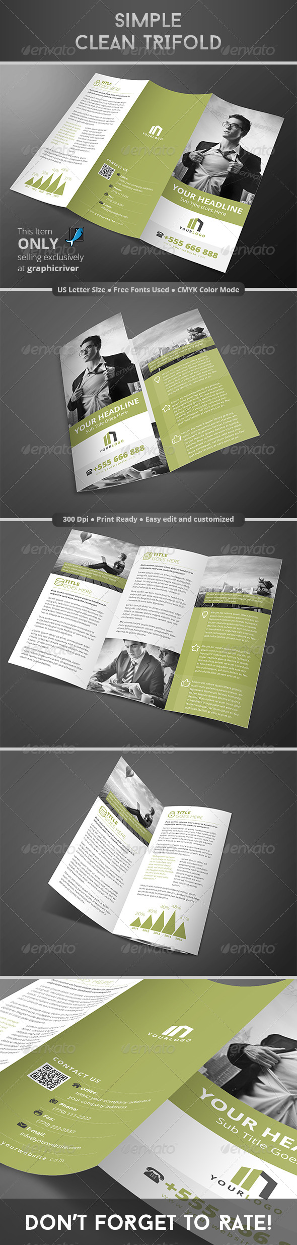 GraphicRiver Simple Clean Trifold 8284380