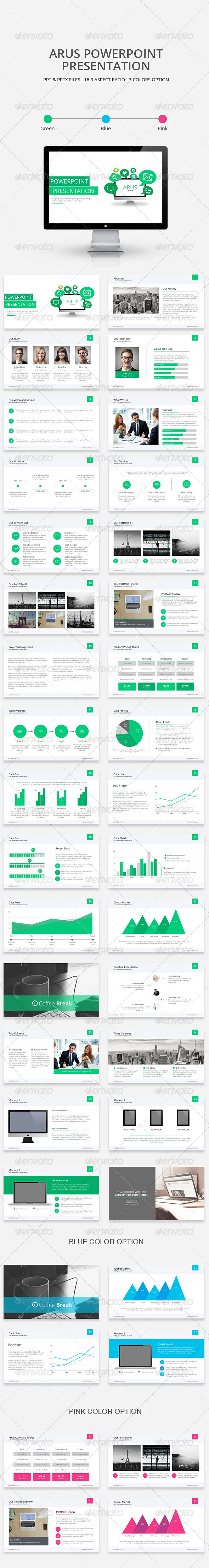 GraphicRiver Arus Powerpoint Presentation Template 8202264