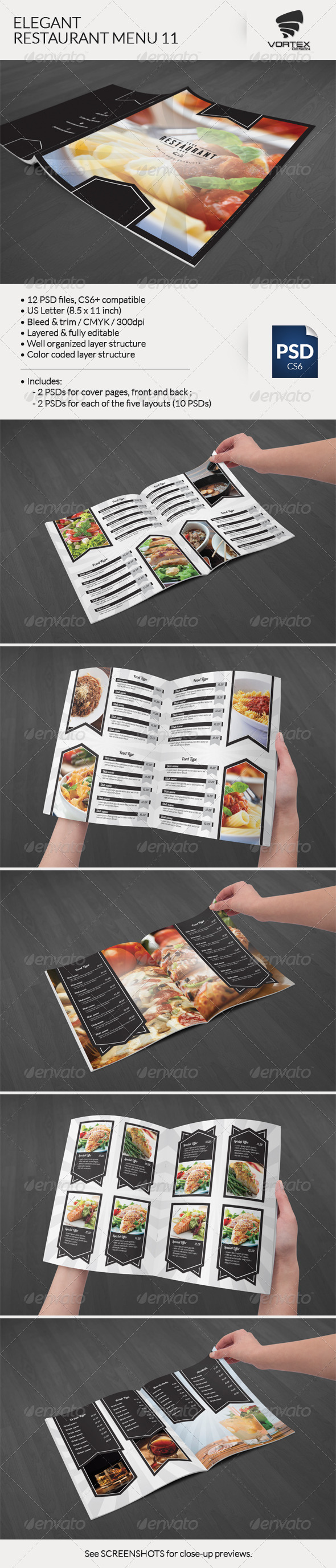GraphicRiver Elegant Restaurant Menu 11 8284538
