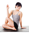 Chinese woman doing yoga. - PhotoDune Item for Sale