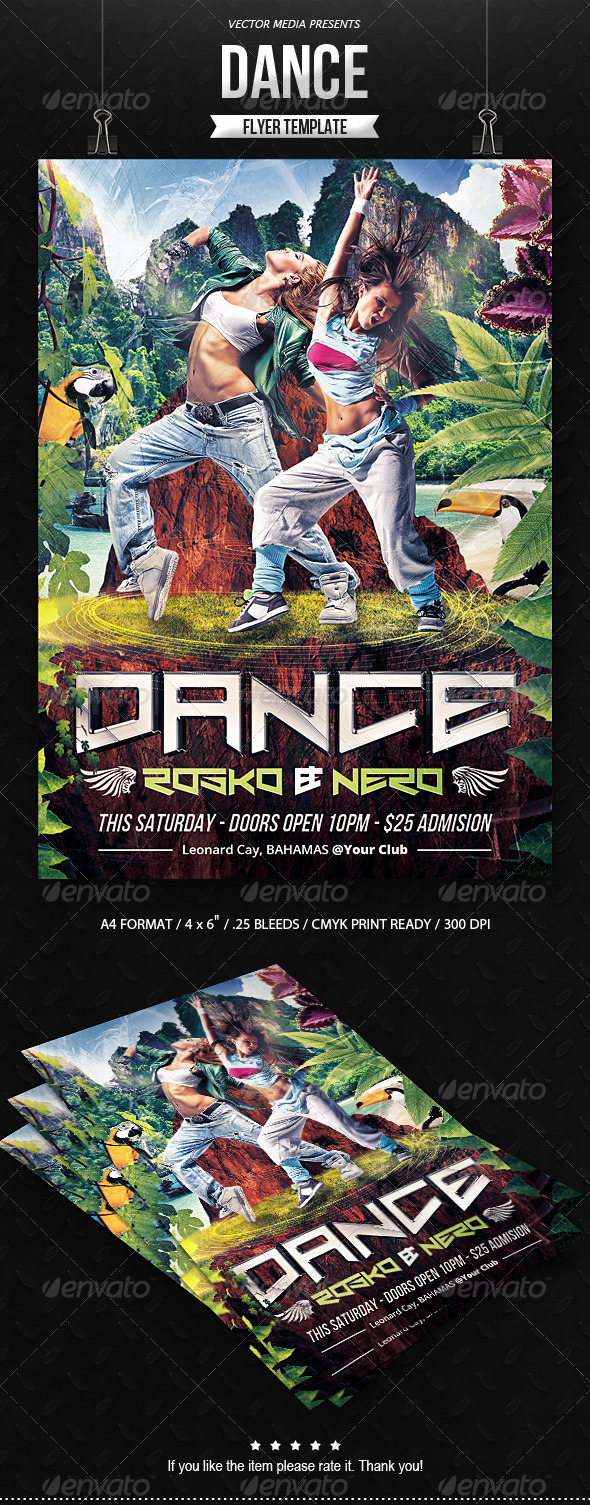 GraphicRiver Dance Flyer 8284734