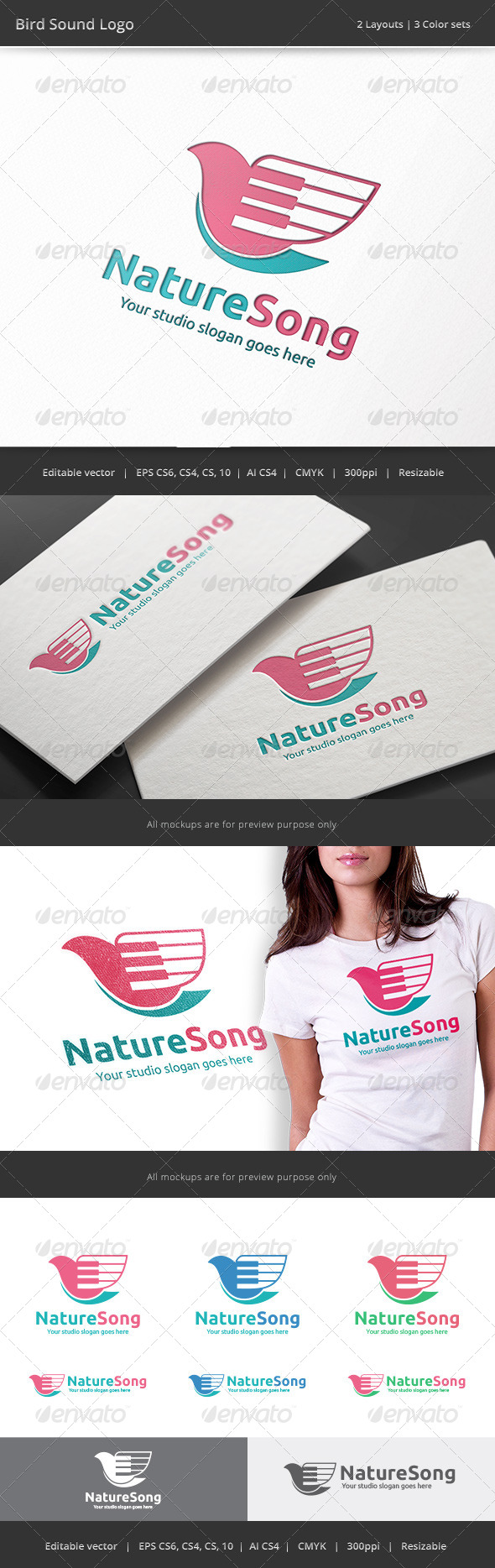 GraphicRiver Bird Song Logo 8284747