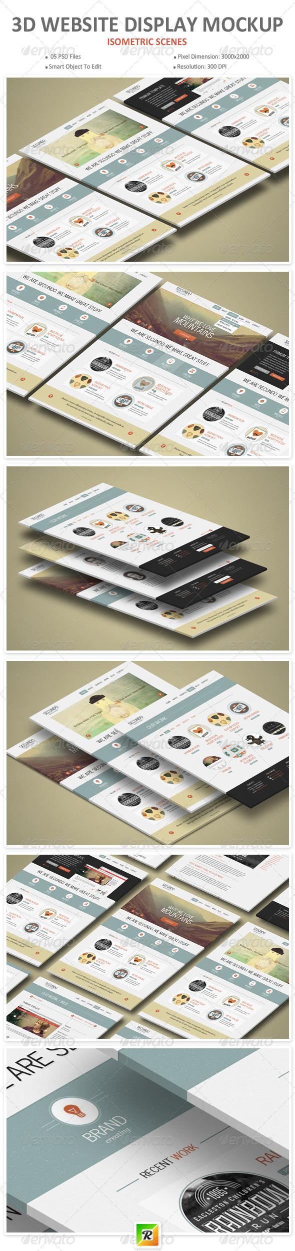 GraphicRiver 3D Website Display Mockup 8284786