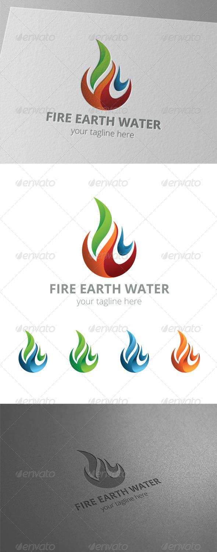 GraphicRiver Fire Water Earth Logo 8284823