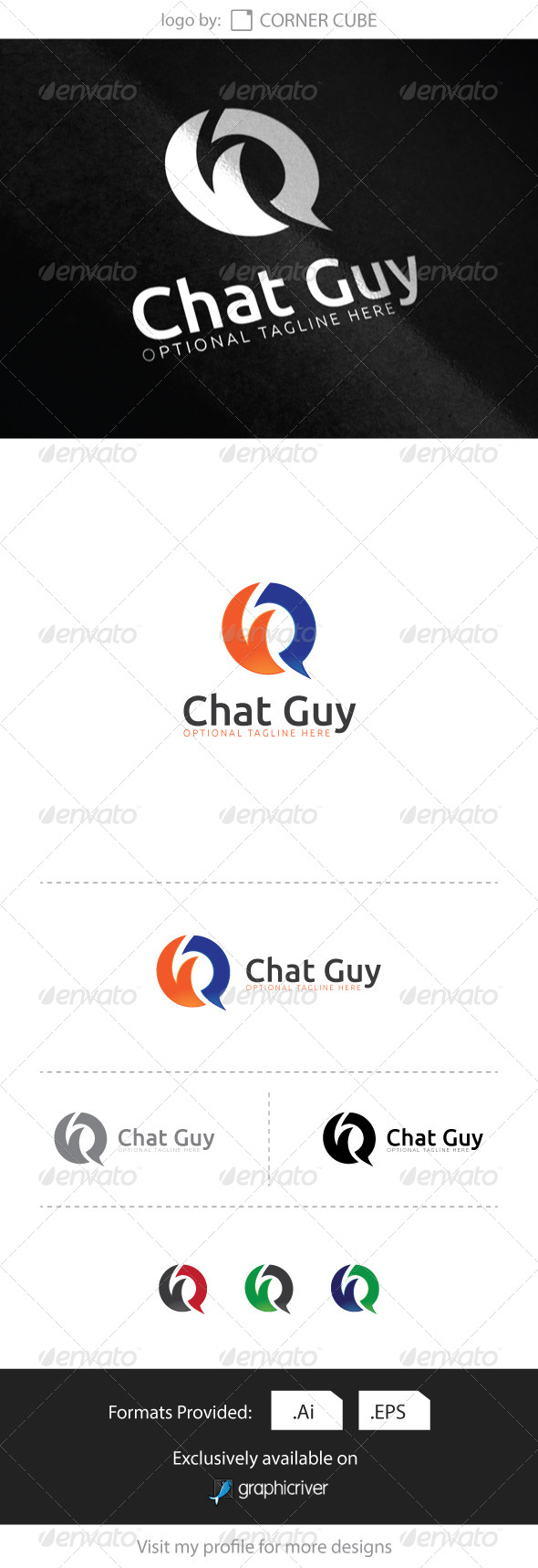 GraphicRiver Chat Guy logo 8284839