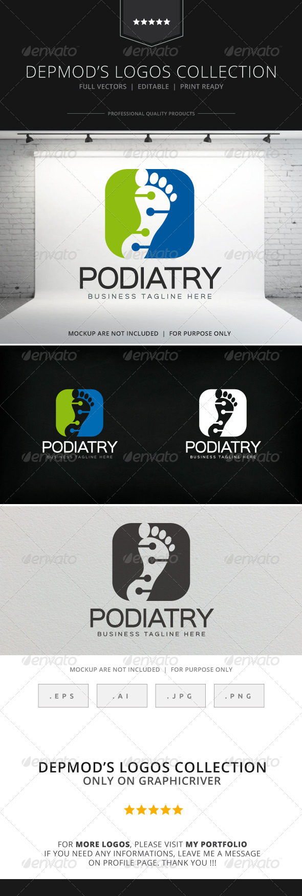 GraphicRiver Podiatry Logo 8284843